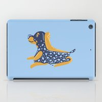 rottweiler iPad Cases featuring Rottweiler Blueberry Pie by Lizzie Young