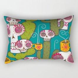 Skulls, Cacti and Atomic Coffee Rectangular Pillow