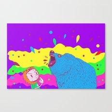 Flippin the bear Canvas Print
