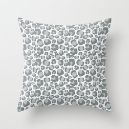 Snow Leopard Feline Throw Pillow