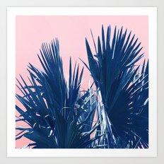 Pink Palm Twist Art Print
