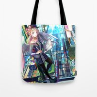 architect Tote Bags featuring Heavens Architect by True Last Boss