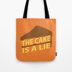 The Cake Is A Lie (Orange Version) Tote Bag
