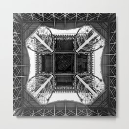 Inside the Eiffel Tower Metal Print