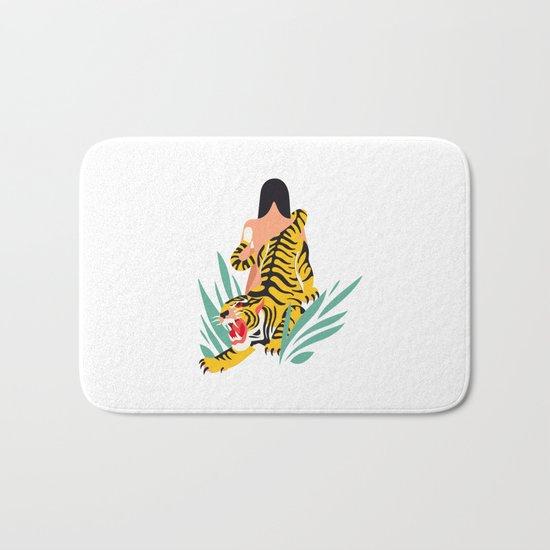 Waking the tiger Bath Mat