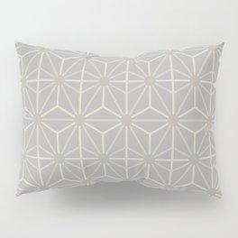 Mindful gray Japanese Asanoha (Hemp) pattern Pillow Sham
