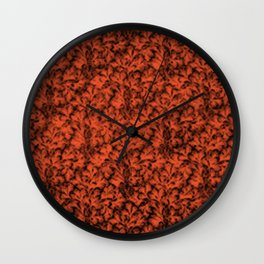 Vintage Floral Lace Leaf Flame Wall Clock