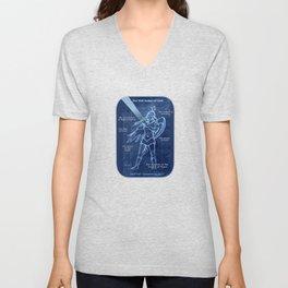 Full Armor of God - Warrior Girl 2 Unisex V-Neck