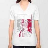 frankenstein V-neck T-shirts featuring frankenstein by don motta