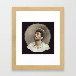 Castiel. White crown. Framed Art Print