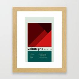 Lakesigns Poster - SXSW 2012 (4 of 4) Framed Art Print