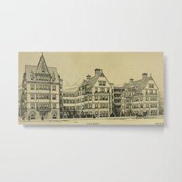 Wesley Hospital 1888 Metal Print