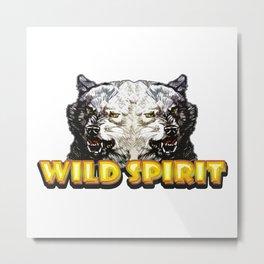 Wild Spirit - Wolface Metal Print