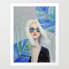 Woman in Tropical Forest Art Print
