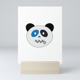 Panda Bear Zipper Mouth Face Mini Art Print