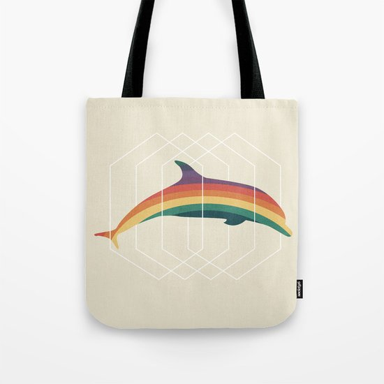 Calico Dolphin Tote Bag
