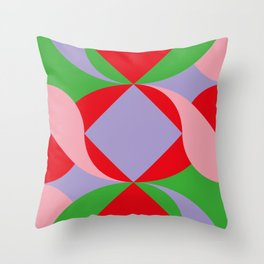 Two red squares and a Squared hole Throw Pillow