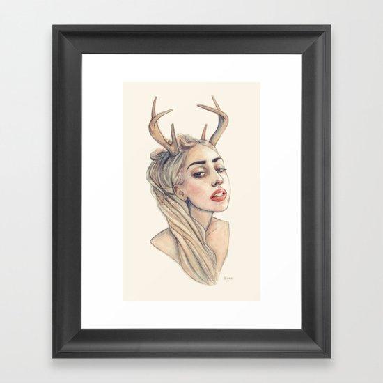 Doe Framed Art Print