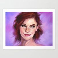 emma watson Art Prints featuring Emma Watson by Killerkun