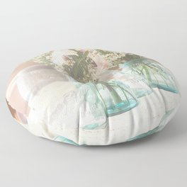 Vinage Mason Jar Photograph Floor Pillow