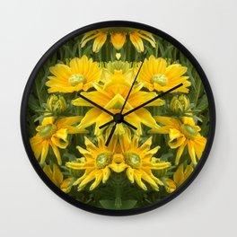 Duck Billed Dahlia Wall Clock