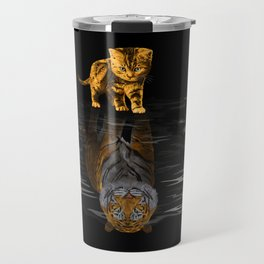 Cute Little Baby Hobbes tiger cat Travel Mug
