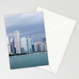 Chicago Skyline Pictures from Michigan Lake Stationery Cards