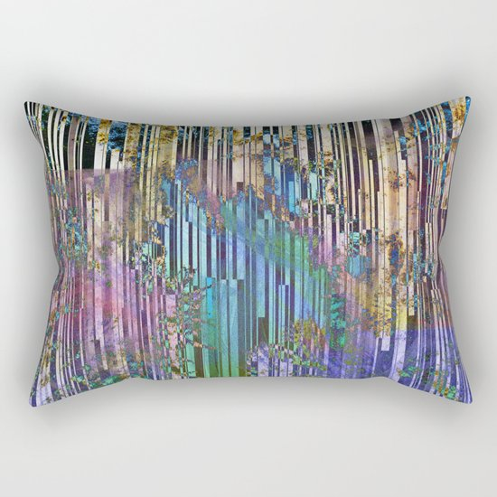 tree barcode stripes Rectangular Pillow