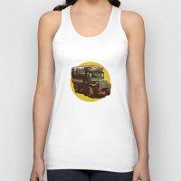 truck Tank Tops featuring Truck by Mirko Dessureault
