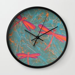More Darwin Dragonflies Wall Clock