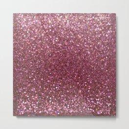 Mauve Pink marsala Glitter Sparkles Metal Print