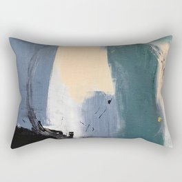 abstract circle illustration Rectangular Pillow