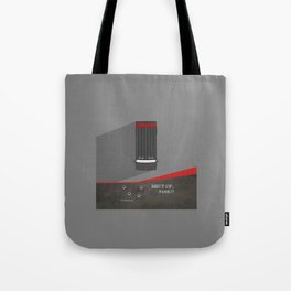Lab No. 4 - Shut up, Fool !! B.A.Baracus's Movie Quotes Poster Tote Bag