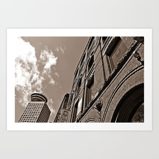downtown vancouver Art Print
