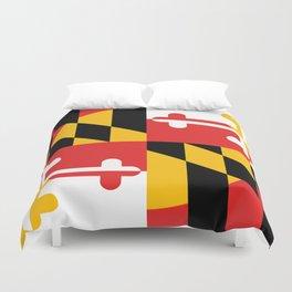 Maryland State Flag Art Print Duvet Cover