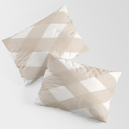 Pantone Hazelnut, Tan Argyle Plaid, Diamond Pattern Pillow Sham