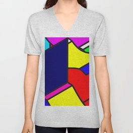 Abstract Art #4 Unisex V-Neck