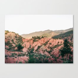 Orange mountains of Ourika Morocco | Atlas Mountains near Marrakech Canvas Print