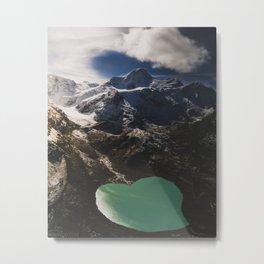Hidden glacier in the Swiss Alps Metal Print