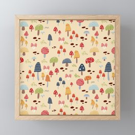 Mushroom Fields Framed Mini Art Print