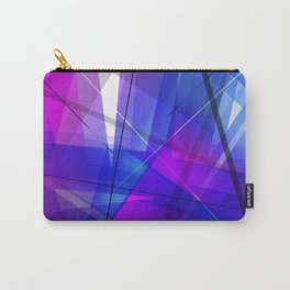 Transparent Shapes Blue and Pink Geometric Abstract Art Carry-All Pouch