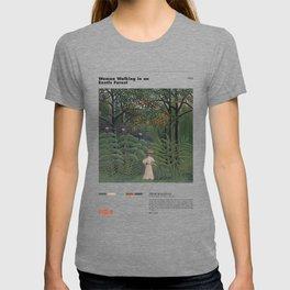 Henri Rousseau - Woman Walking in an Exotic Forest - Minimalist Art Poster Series T-shirt