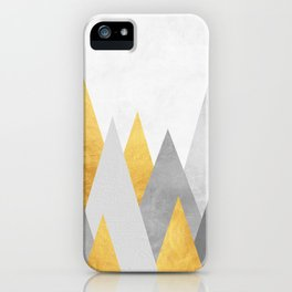 Forest gray and gold iPhone Case