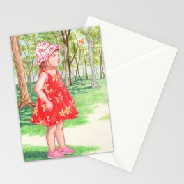 Little Miss Butterfly Stationery Cards