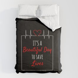Awesome Day Save Lives Critical Care Nurse Gifts EMT RN Comforters