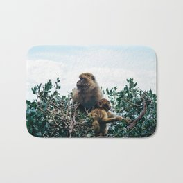 Macaque Mother and Daughter Bath Mat