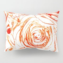 Roses // Wedding Flowers, Abtract Minimalist Art Pillow Sham