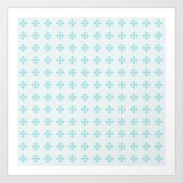 Blue Geometric Emblem Art Print