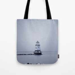 Burlington Breakwater North Lighthouse Tote Bag
