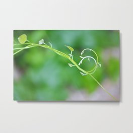 Cute Baby Curlicue Vines Metal Print